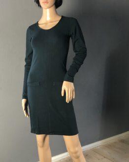 Schmales dunkelgrünes Kleid