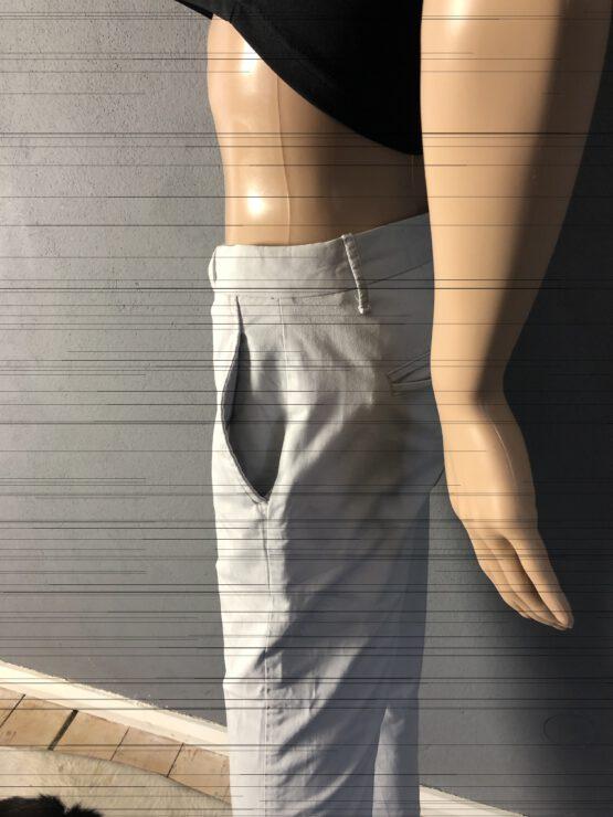 Seitentaschen hellgraue Damenhose