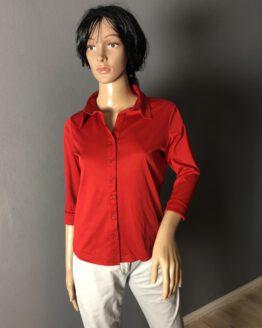 Leuchtend rotes Damenshirt